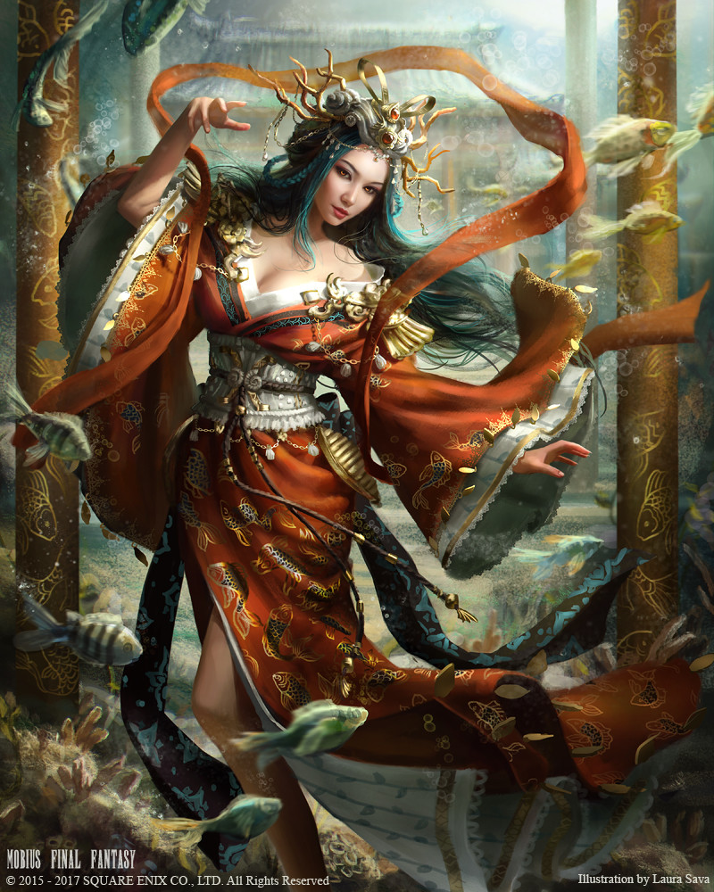 Anime Asian Jungle Girl Wallpaper Artstation Mobius Final Fantasy Otohime Laura Sava