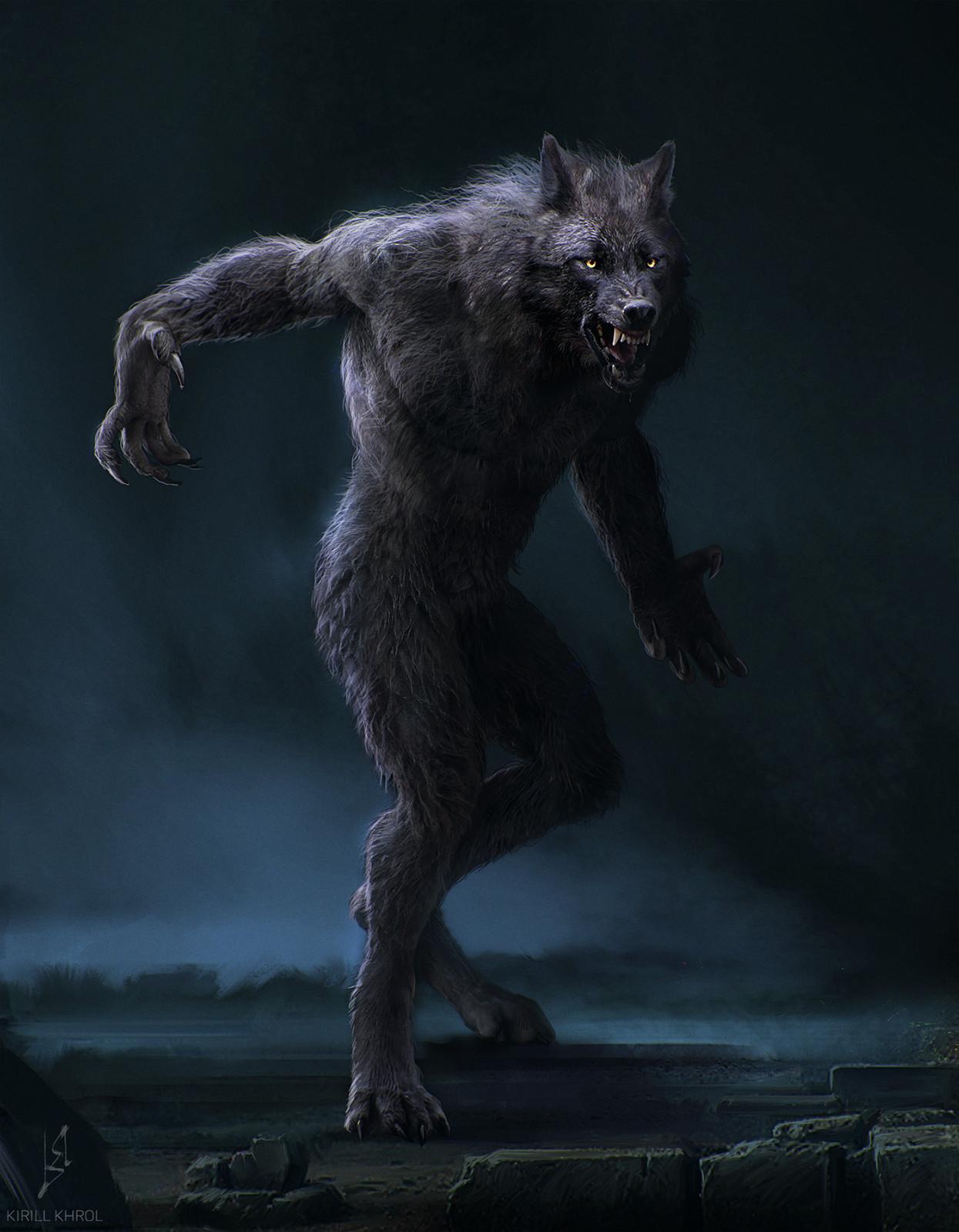 Beautiful Anime Girl Fantasy Forest Wallpaper Artstation Werewolf Kirill Khrol