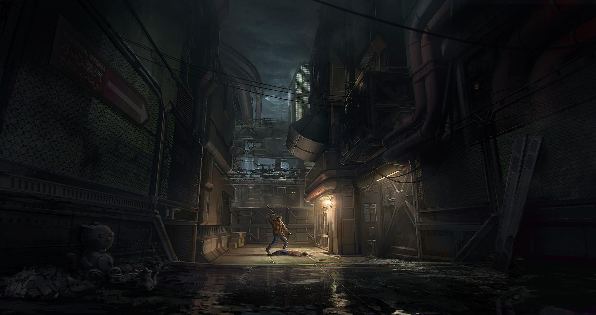 Www Girl Cartoon Wallpaper Com Artstation Blade Runner 2049 Murder Alleyway Concept