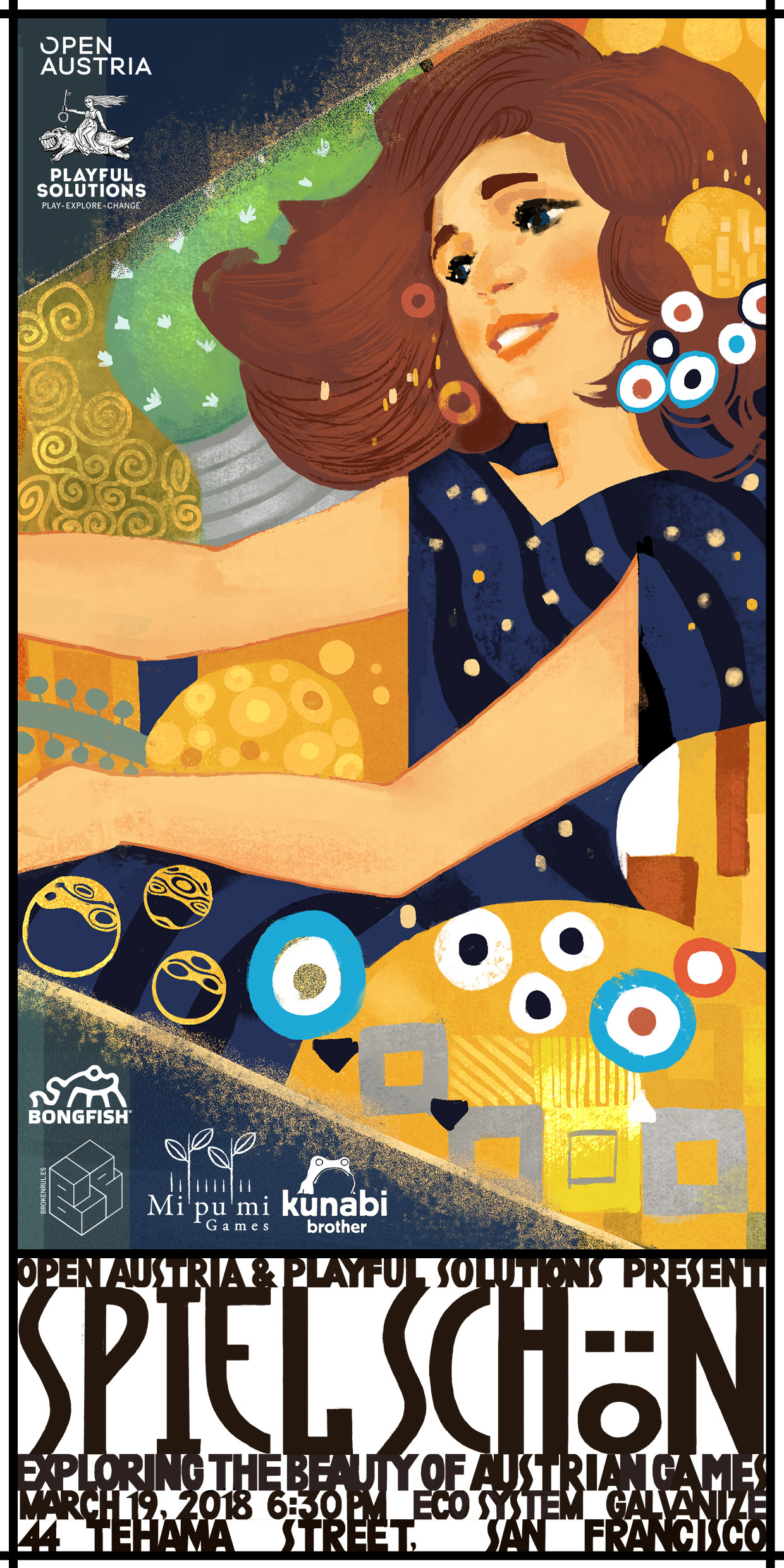 Leafthief Klimt Secession Inspired Poster Artwork