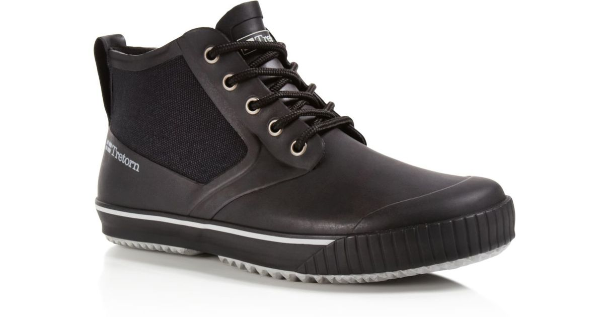 Tretorn New Gunnar Waterproof Sneaker Boots In Black For