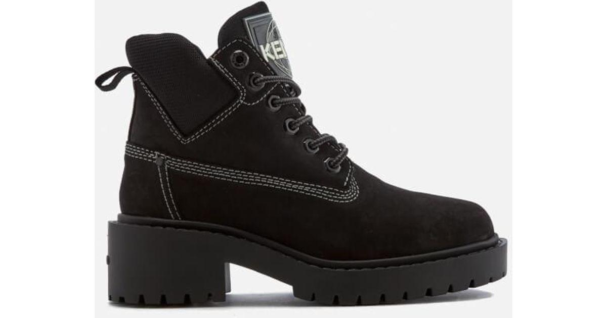 Kenzo Women39s Sierra Lace Up Ankle Boots In Black Lyst