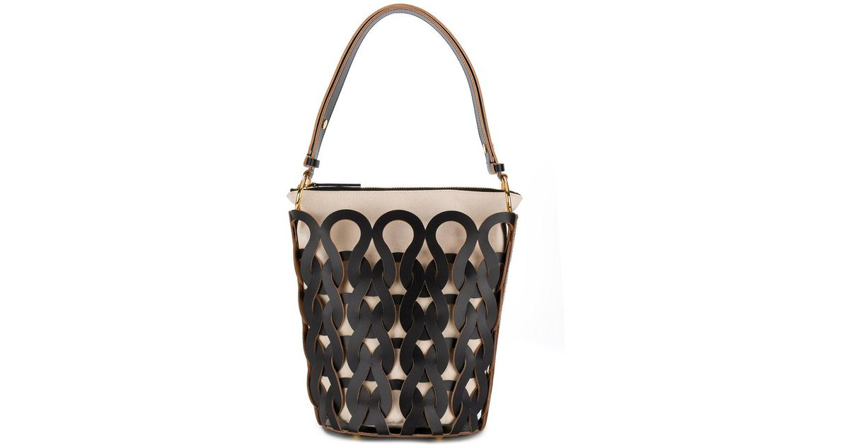 All Size Cheap Pick A Best woven pattern tote bag - Black Marni Outlet Best CMpd7