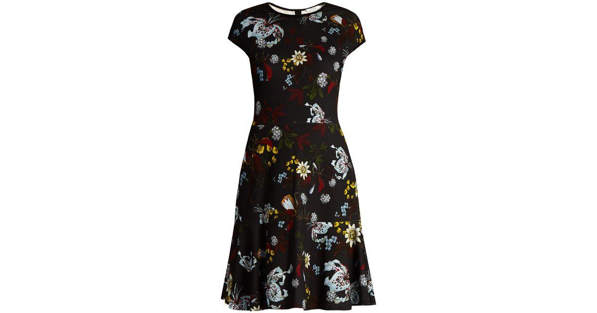 Erdem Darlina Bacall Night Floral Print A Line Dress In