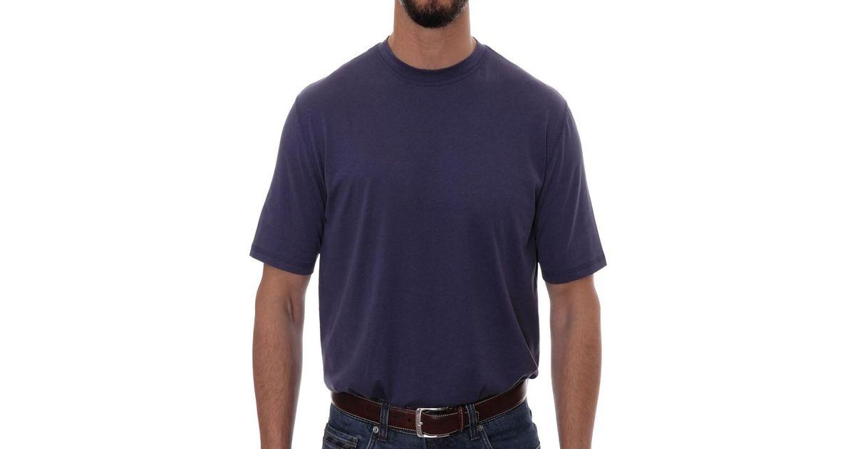 Robert Talbott Turner T Shirt In Blue For Men Lyst