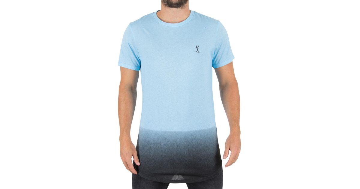 Lyst - Religion Baby Blue/black Gradient Logo T-shirt in Blue for Men