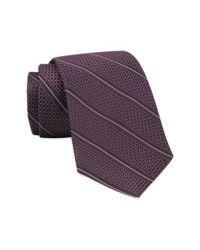 Gitman brothers vintage Stripe Woven Silk Tie in Purple ...