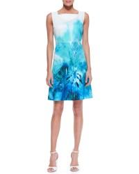 Elie Tahari Melany Sleeveless A-Line Silk Dress in Blue ...