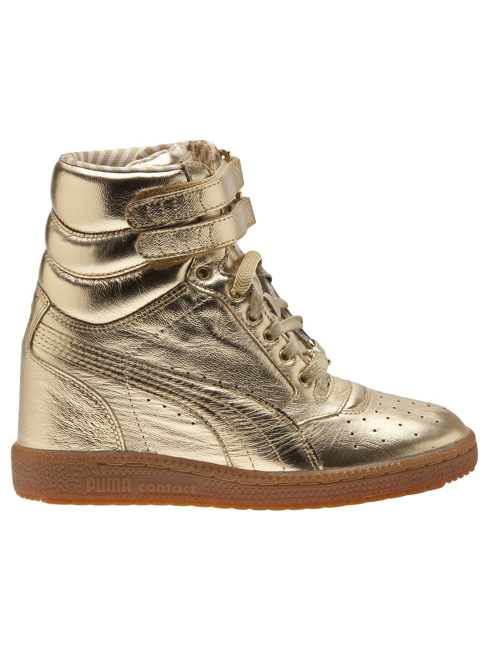 Nike Juvenate Puma Sky Wedge Sneaker In Metallic - Lyst