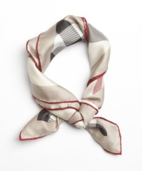 Lyst - Burberry Trench Check Silk Scarf in Natural