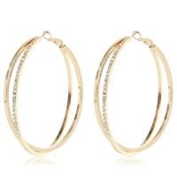 Diamond Encrusted Hoop Earrings 10k 0 45 Ctw Diamond ...