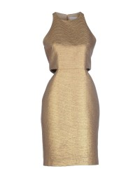 Genny Knee-length Dress in Gold | Lyst