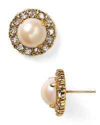 Kate spade Secret Garden Stud Earrings in Natural | Lyst