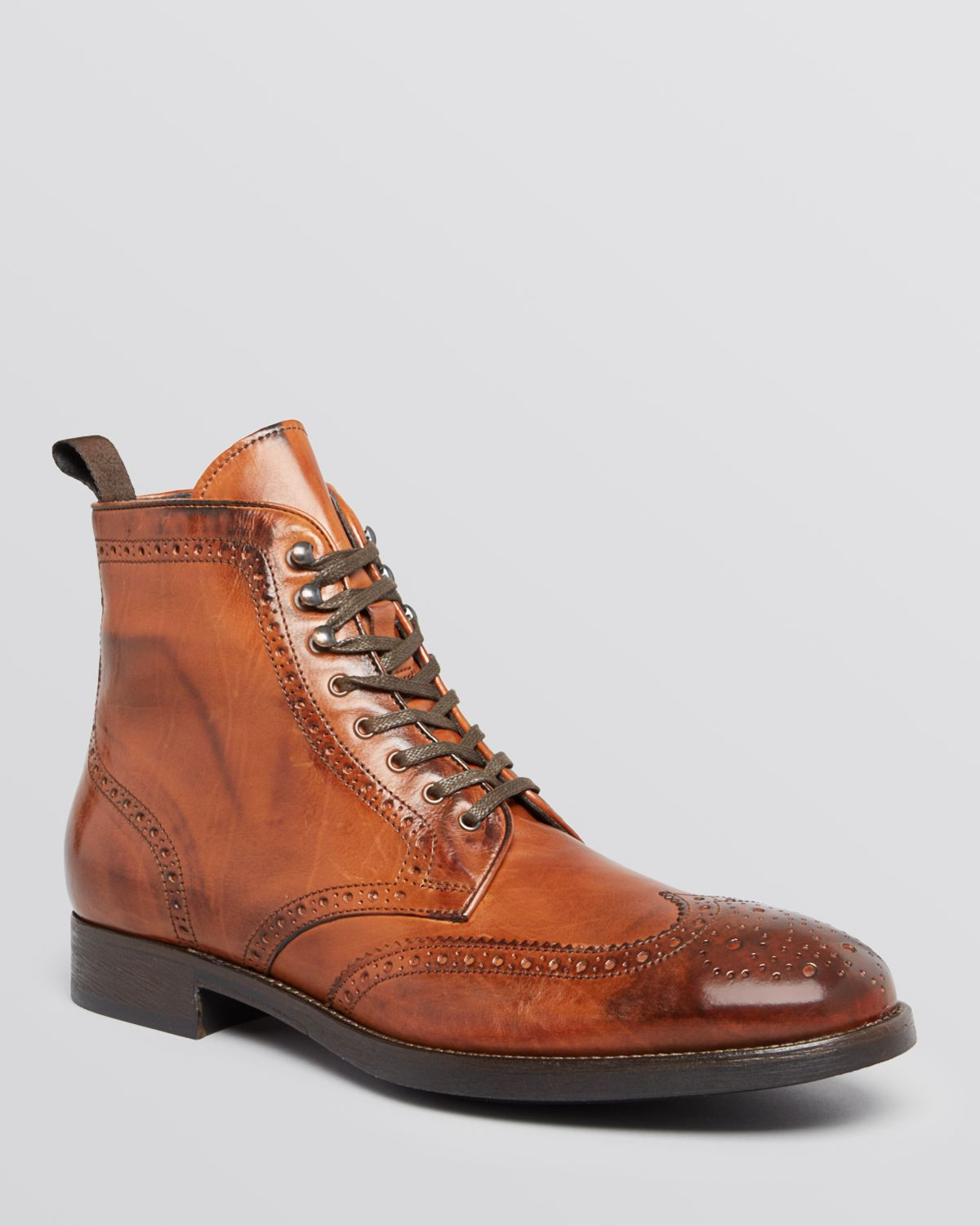 To Boot Brennan Wingtip Boots In Brown For Men Lyst