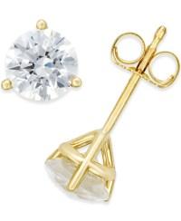 Macy's Near Colorless Certified Diamond Stud Earrings In ...