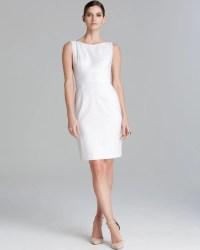 Lyst - T tahari Myra Eyelet Sheath Dress in White