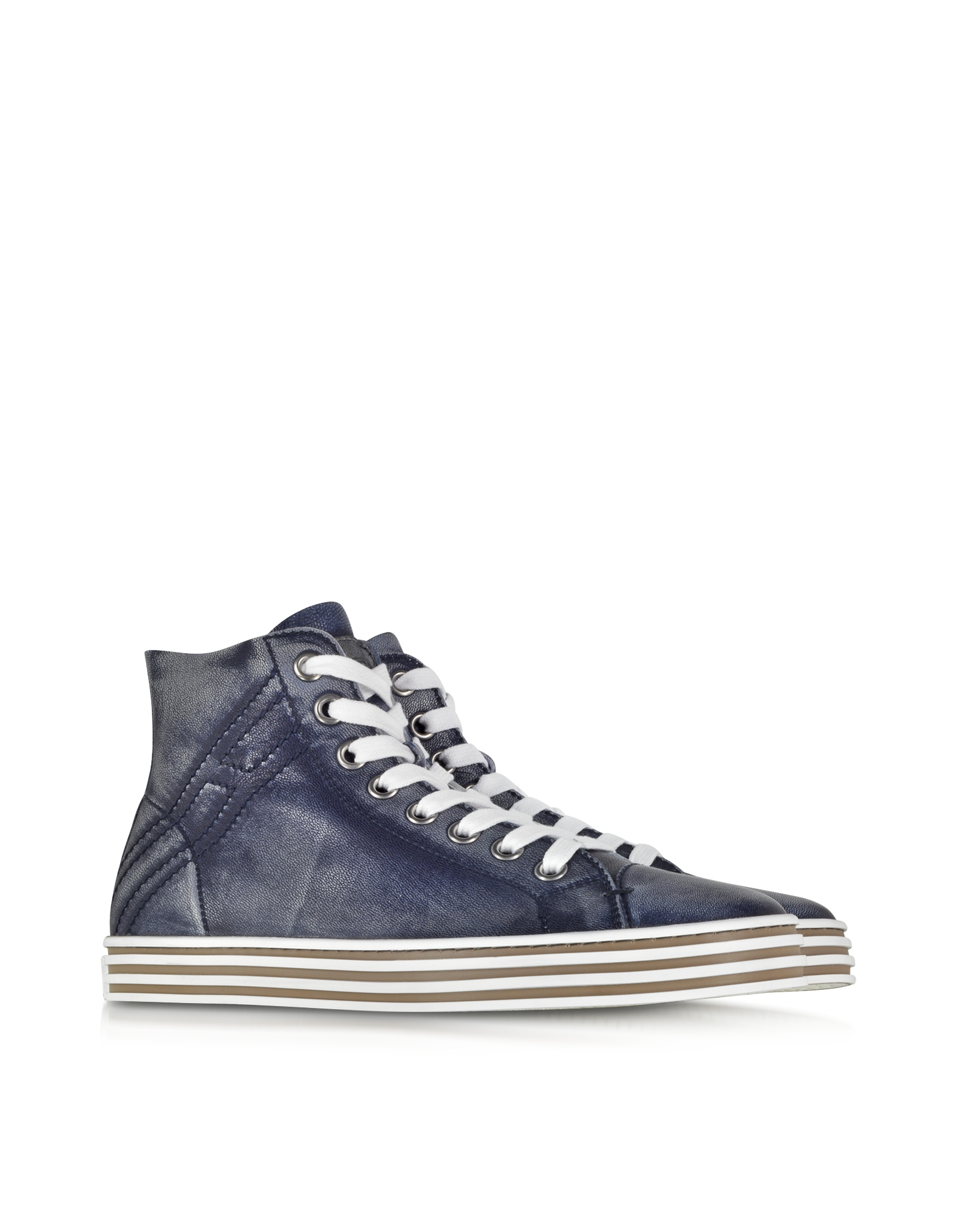 Hogan Rebel Lyst Hogan Rebel Denim Blue Leather High Top Men 39s