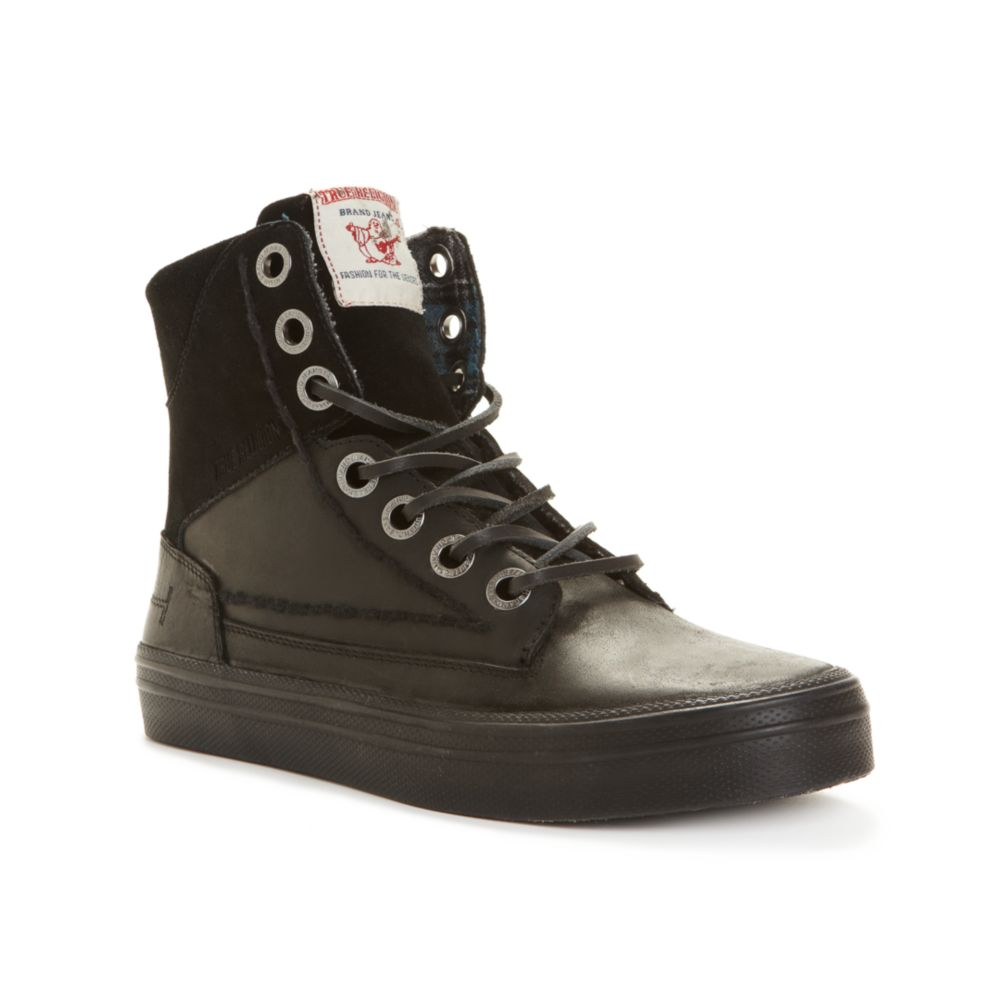 True Religion Camby Laceup Boots In Black For Men Lyst