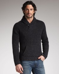 Lyst - 7 For All Mankind Shawl-collar Sweater in Black for Men