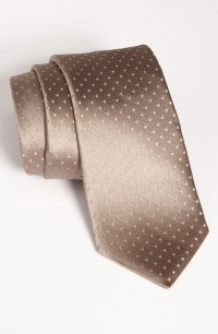 Michael Kors Woven Silk Tie in Brown for Men (taupe) | Lyst