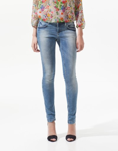 Light Blue Skinny Jeans Women