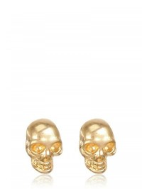 Lyst - Alexander Mcqueen Skull Earrings in Metallic
