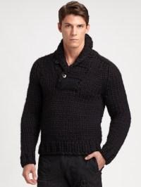 Lyst - Rlx Ralph Lauren Shawl Collar Sweater in Black for Men