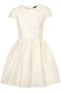 Lyst - Topshop Sparkle Jaquard Prom Dress in White