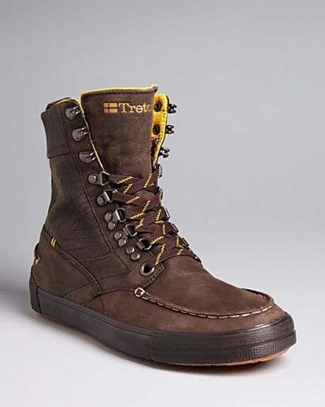 Tretorn Highlander Lace Up Casual Boots In Brown For Men