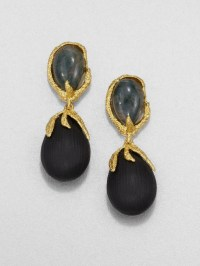 Alexis bittar Green Agate and Lucite Drop Earrings in ...