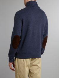 Polo ralph lauren Shawl Collar Sweater in Blue for Men | Lyst