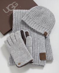 Lyst - Ugg Hat Scarf Gloves Box Set in Gray for Men