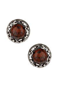 Topshop Marble Stud Earrings in Purple (burgundy) | Lyst