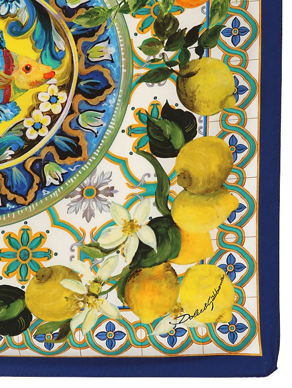 Prada Wallpaper Iphone Lyst Dolce Amp Gabbana Lemon Print Twill Silk Foulard