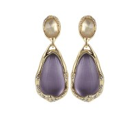 Alexis bittar Ophelia Gold Drop Clip Earrings in White ...