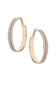 Topshop Coloured Chain Hoop Earrings in Pink | Lyst