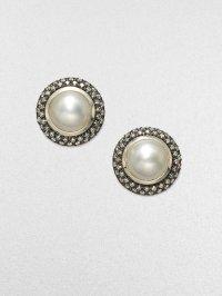 David Yurman Diamond Accented Mabe Pearl Earrings in ...