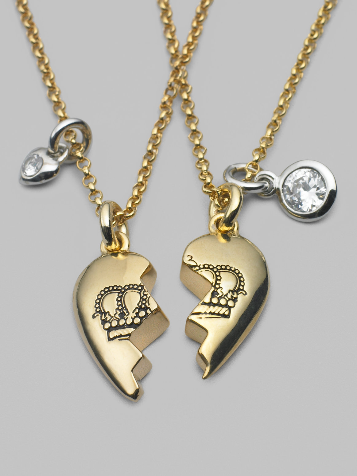 3d Wallpapers Of Friends Forever Juicy Couture Best Friends Forever Necklace In Metallic Lyst