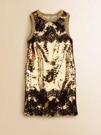 Lyst - Dolce & Gabbana Girls Sequin Dress in Metallic