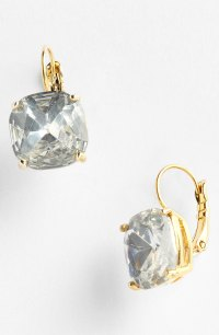 Kate Spade Drop Earrings - Clear/ Gold in White (clear ...