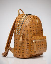 Lyst - Mcm Backpack - Stark Large Crown Stud in Brown