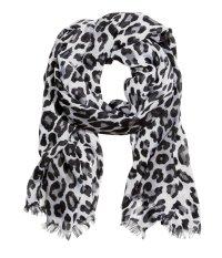 H&m Scarf in Black (Black/White leopard print)