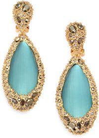 Alexis Bittar Lucite Crystal Clipon Drop Earrings in Blue ...