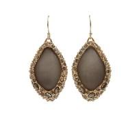 Lyst - Alexis bittar Grey Pave Wire Drop Earrings in Metallic