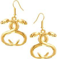 Stussy Snake Charmer Drop Earrings in Gold | Lyst