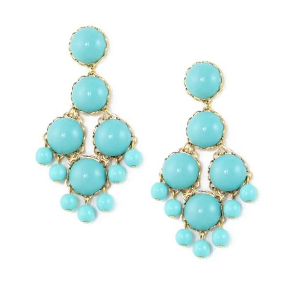 Loren Hope Dabney Large Chandelier Earrings Turquoise in