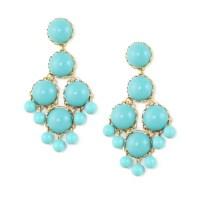Loren Hope Dabney Large Chandelier Earrings Turquoise in ...