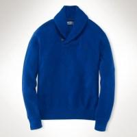 Lyst - Polo Ralph Lauren Cotton Shawl-collar Sweater in ...