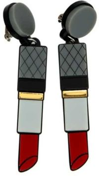 Yazbukey Lipstick Earrings in Red | Lyst