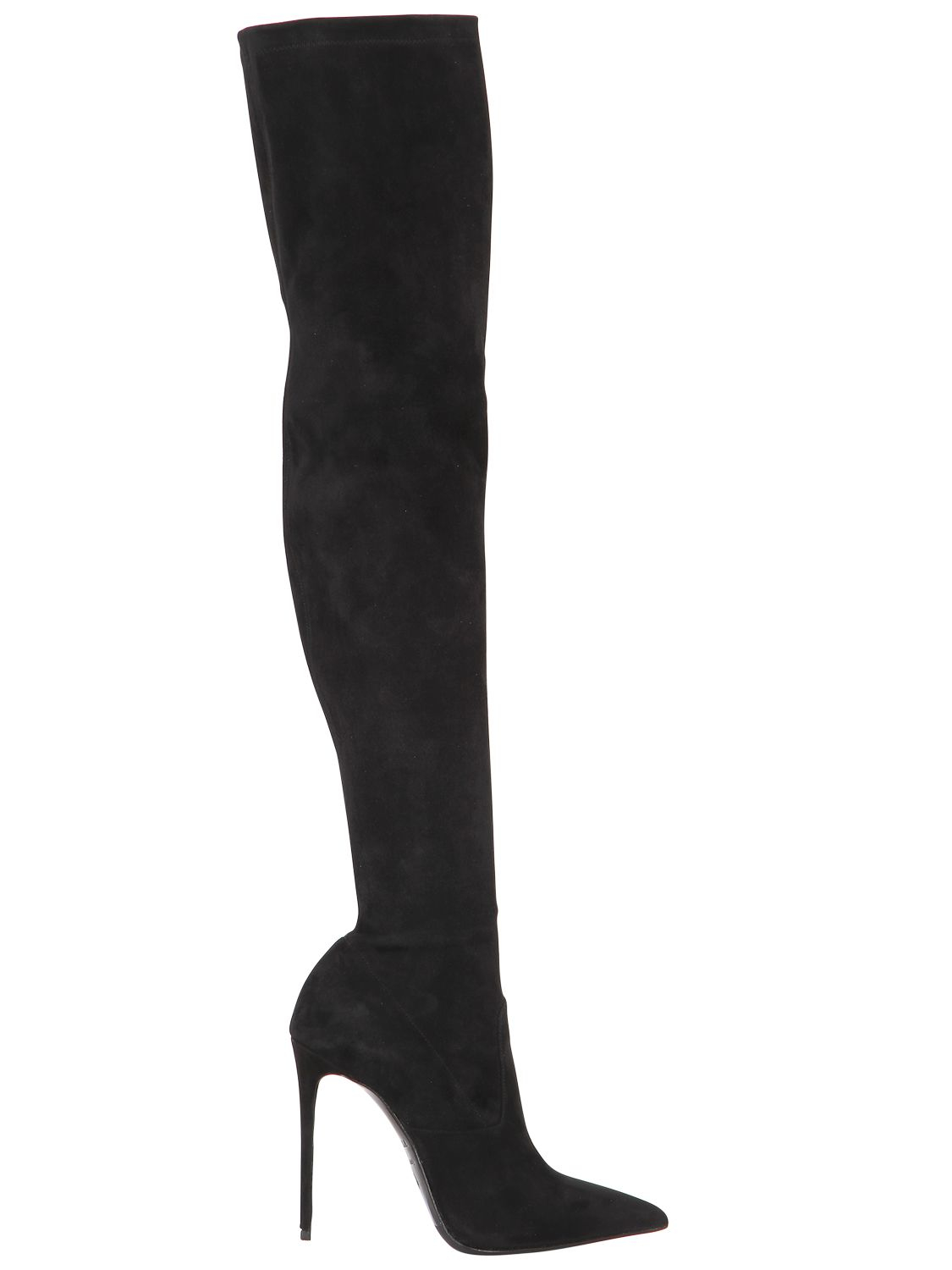 Le Silla Boots Le Silla 110mm Stretch Suede Over The Knee Boots In Black
